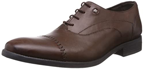 db35610c2f81 Ruosh Men s Brown Leather Formals Shoes - 11 UK India (45 EU)(12 US ...