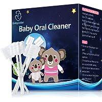 [100-Pack] Baby Toothbrush, Newborn Baby Tongue Cleaner Toothbrush Clean Baby Gums Disposable Tongue Cleaner Soft Gauze…