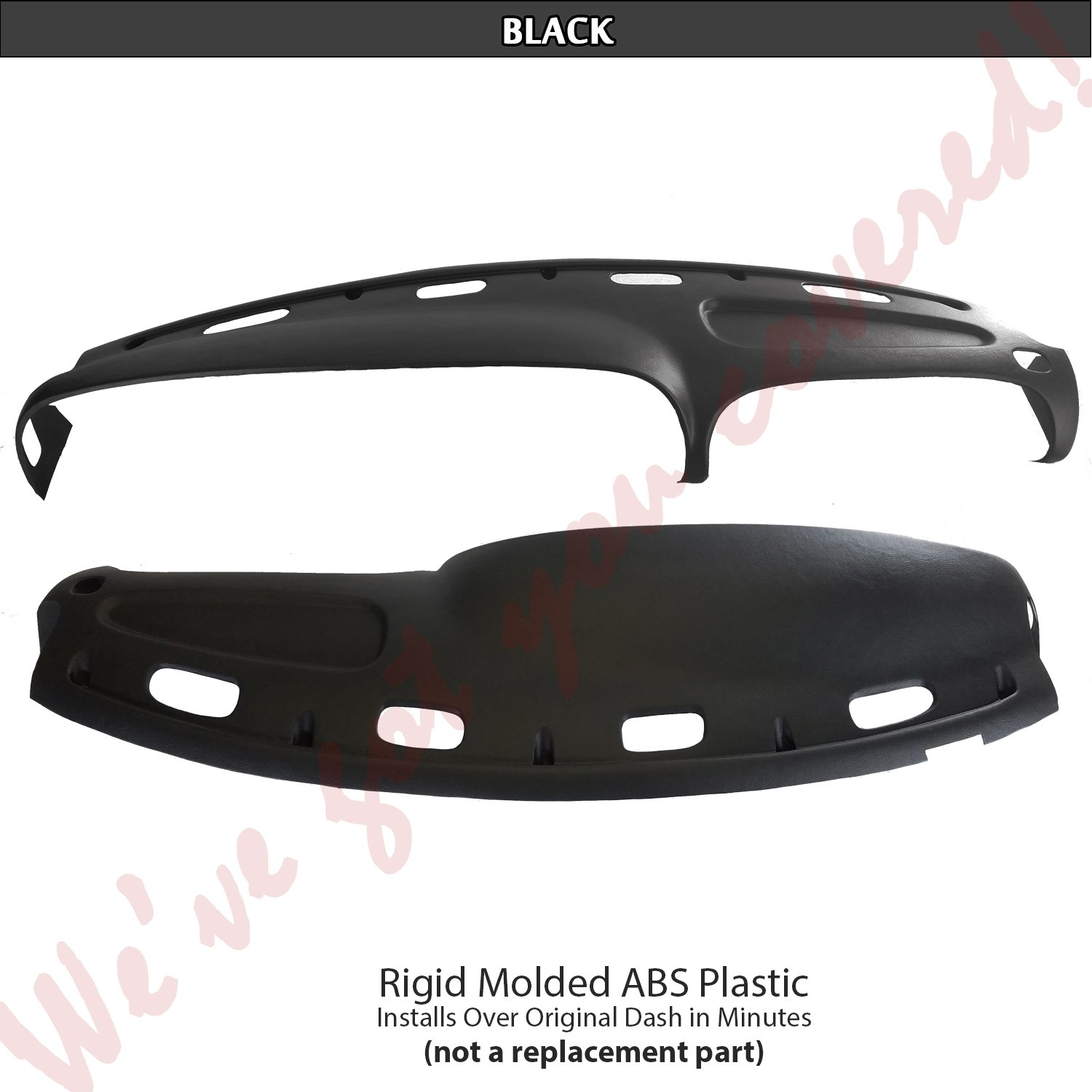 DashSkin Molded Dash Cover Compatible with 98-01 Dodge Ram in Black