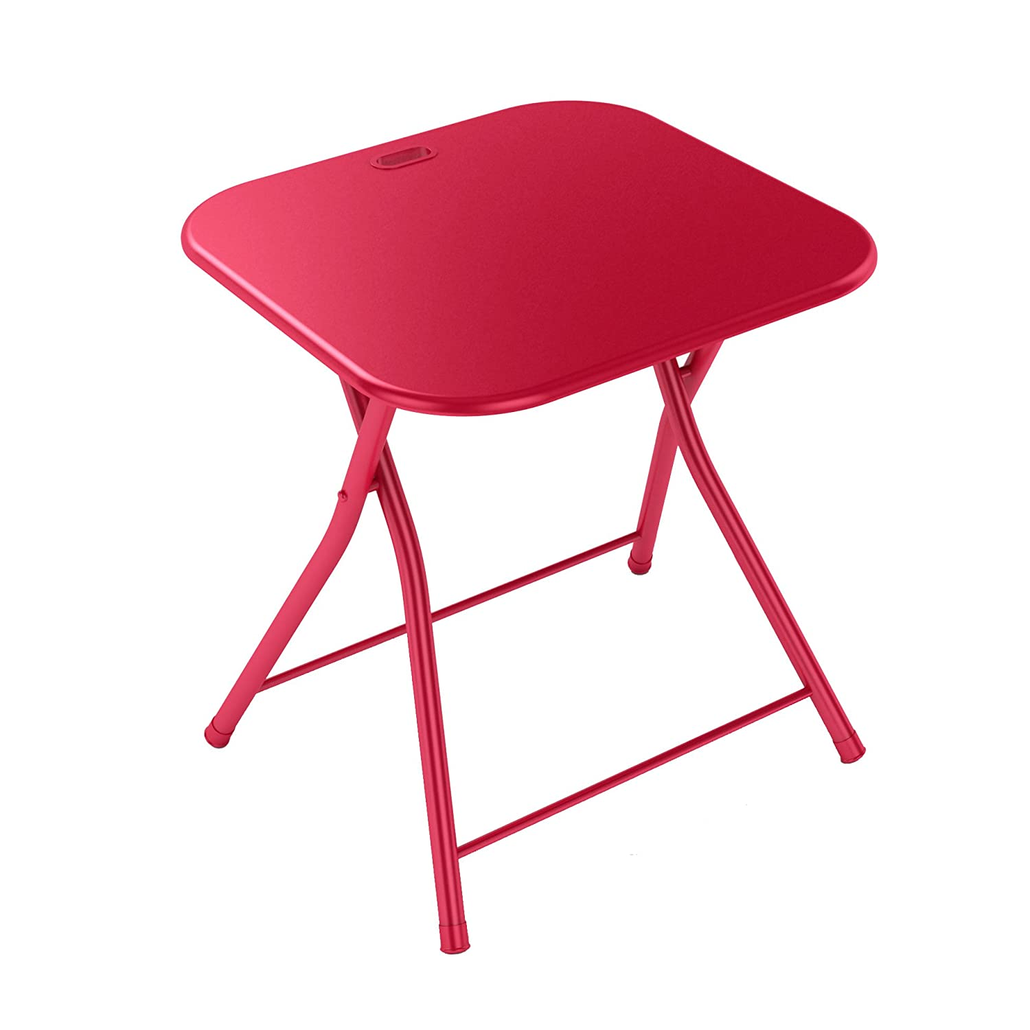 Amazon dar Living Folding Table with Handle Red Kitchen