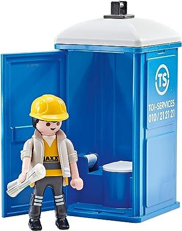 Playmobil Baño Portátil Obreros de la Construcción (En Bolsa Precintada de Fabricante) 9844