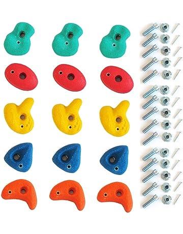 e31b7a91c6fb12 Gartenpirat Klettersteine für Kletterwand Ausführung klein Set mit 15 Stück