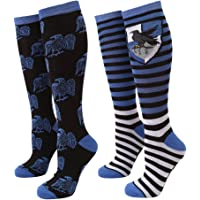 Harry Potter Striped Ravenclaw Raven Women's 2-pack Knee High Socks