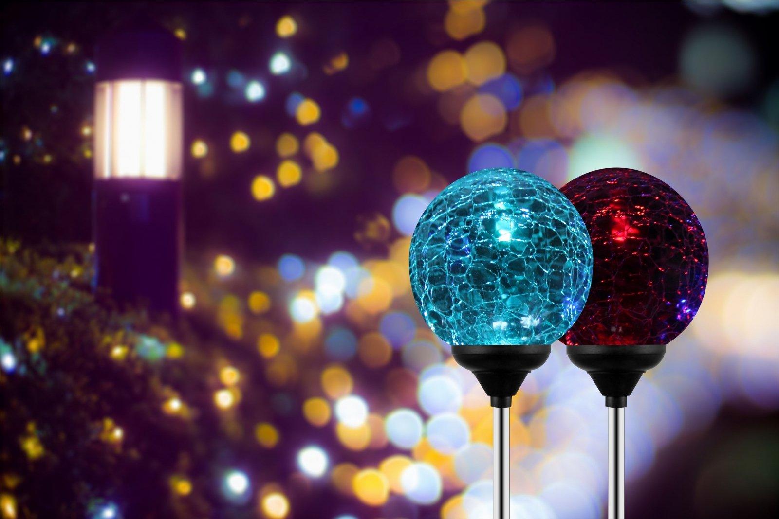 Solar Globe Lights, OxyLED Crystal Glass LED Light/Solar Stake Light, 689789359273 eBay