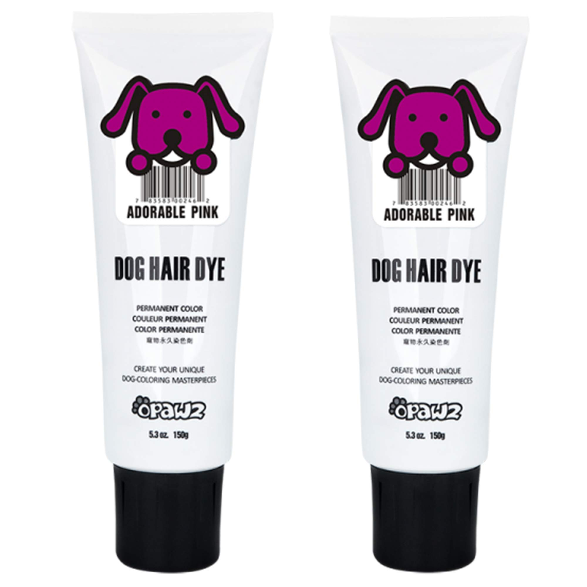 Owpawz Dog Hair DYE Gel - New Bright, Fun Shade, Semi-Permanent, Completely Non-Toxic and Safe (Pink - 2 PK) by Owpawz