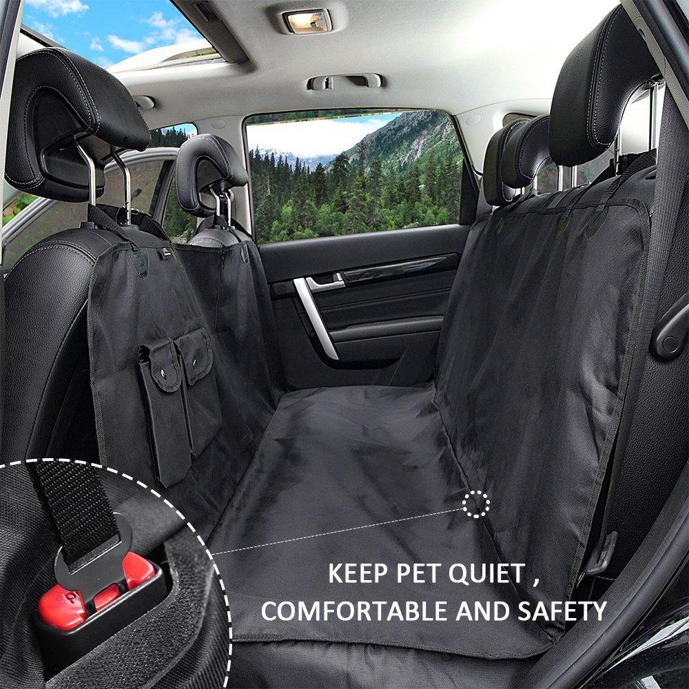 HCMAX Lusso Impermeabile Cane Coprisedile per Auto Veicolo Protezione Bagagliaio Animali Amaca Convertibile Copertina Copri Sedili Posteriori per SUV Truck