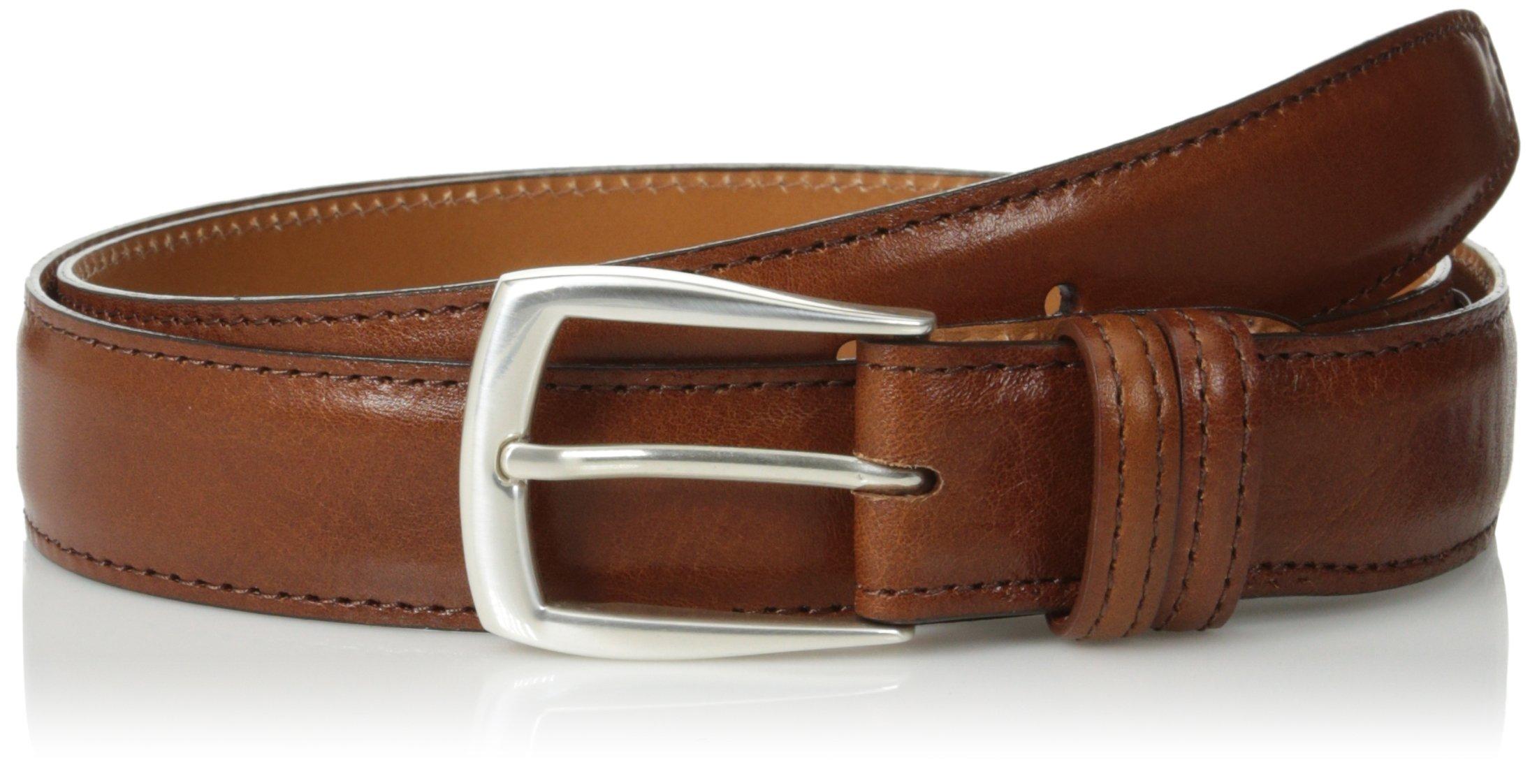 Trafalgar Men's Italian Calf Belt,Cognac,42