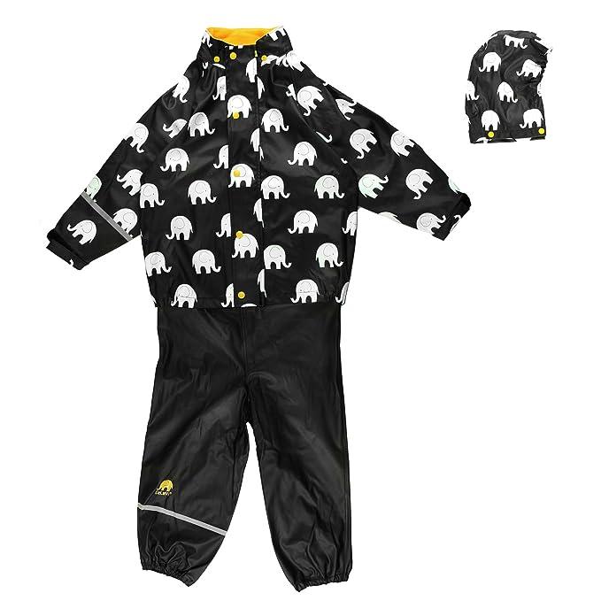 Celavi Abrigo impermeable de manga larga con cuello redondo para niño: Amazon.es: Ropa y accesorios