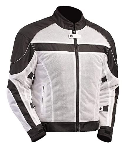 best supplier fashionable and attractive package huge range of BILT Techno Mesh Motorcycle Jacket - MD, White/Black