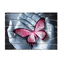 FeiyanfyQ Fashion farfalla su mani moderno 5D DIY Diamond Painting Home Decor punto croce Crafts