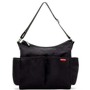 0f9d880a73 Amazon.com   Black Hobo Bag Diaper Bag Baby Big Bags Large Diaper Tote  Shoulder Purse   Baby