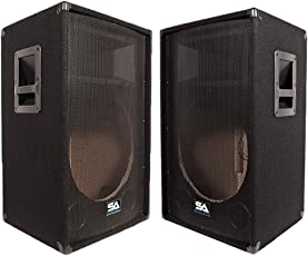 Seismic Audio Sa 15t Empty Pair Of 15 Inch Pa