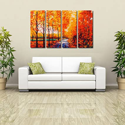 Merveilleux 999Store Multiple Wooden Frames Printed Abstract Trees Paintingframesd For Living  Room