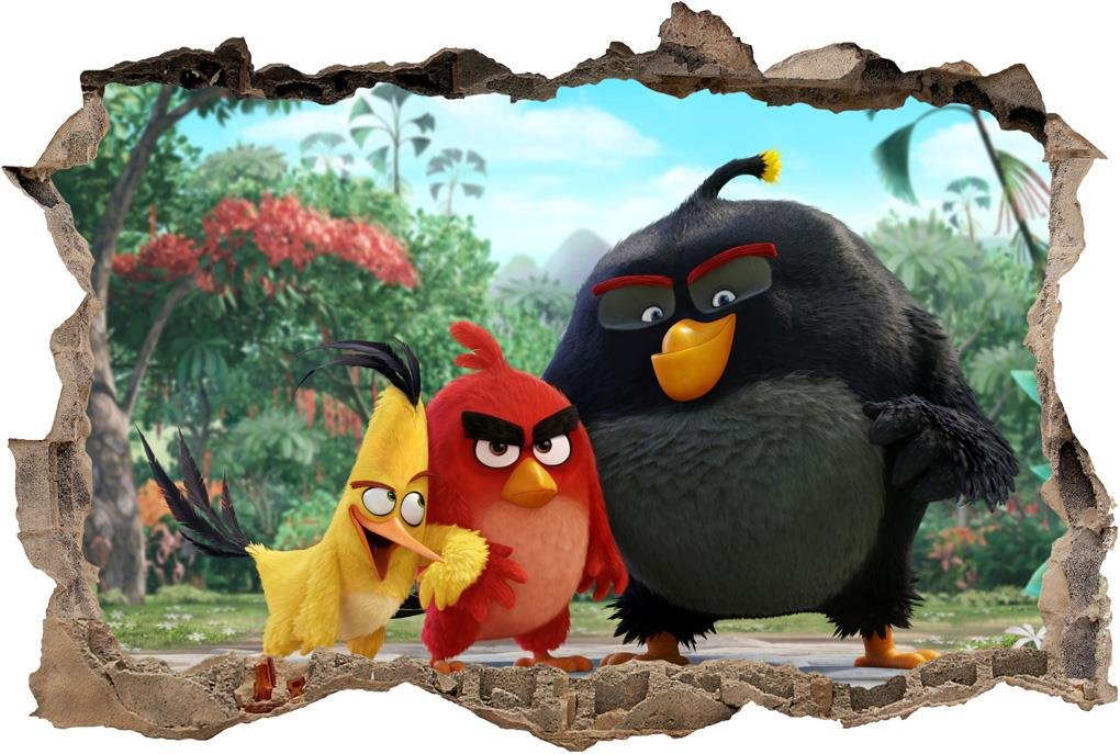 Angry birds smashed wall decal graphic wall sticker decor for Angry birds wall mural
