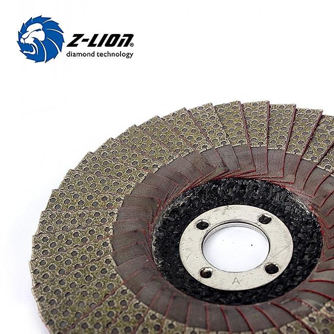 "Z-LION 4/"" Diamond Flap Sanding Disc Grit 60 Angle Grinder Wheel Hand Tools Home"