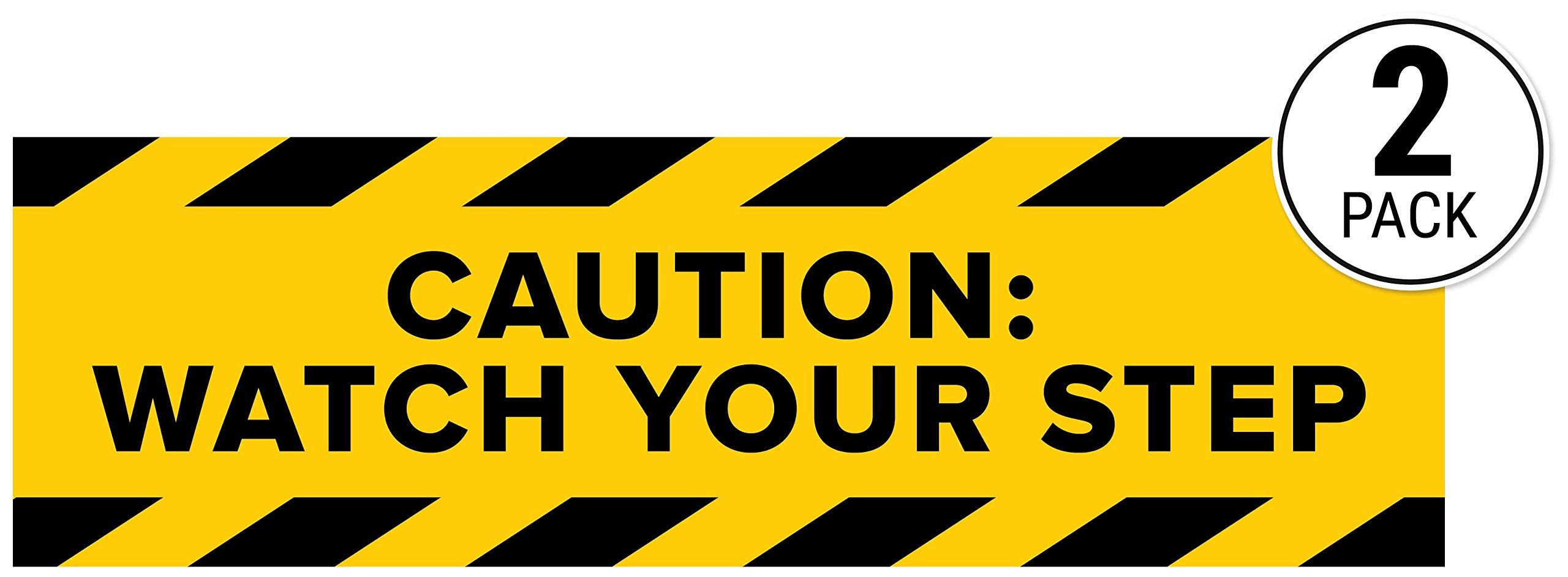 Yellow 2 x 4 Cortina LAMBA Safety Floor Sign 03-600-34 Caution Wet Floor