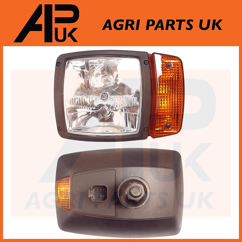 APUK NEW Left Hand Side Headlight Headlamp Compatible with JCB Telescopic Handler Indicator Excavator