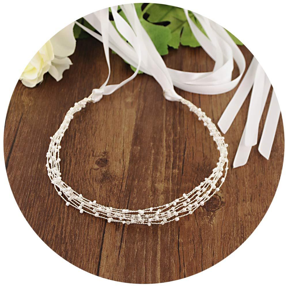 ULAPAN Simple Beaded Sash Belts Wedding Belt Sashes wedding Chain Dress Belts