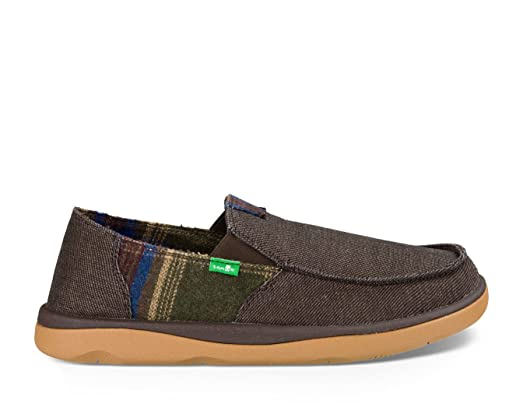 Sanuk Men's Vagabond Tripper Sidewalk Surfer Brown 14 & Oxy Cleaner Bundle