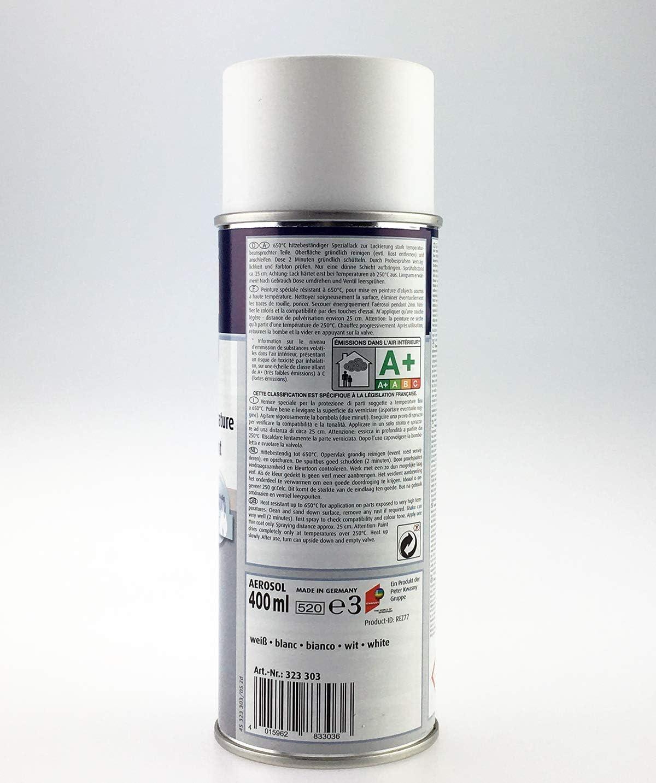 Unbekannt Kwasny Belton Special Hitzefester Lack Bis 650 C Speziallack Lack Lackspray Spraylack Weiß 400 Ml Auto