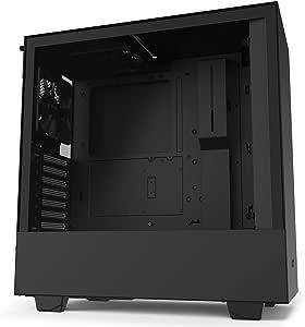 NZXT H510 - Caja PC Gaming Semitorre Compacta ATX - Panel frontal E/S Puerto USB de Tipo C - Panel lateral de Cristal Templado - Preparado para Refrigeración líquida - Negro: Amazon.es: Informática