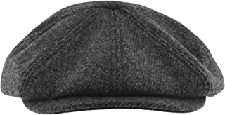 Ted Baker Pallion Charcoal Grey Wool Baker Boy Flat Cap