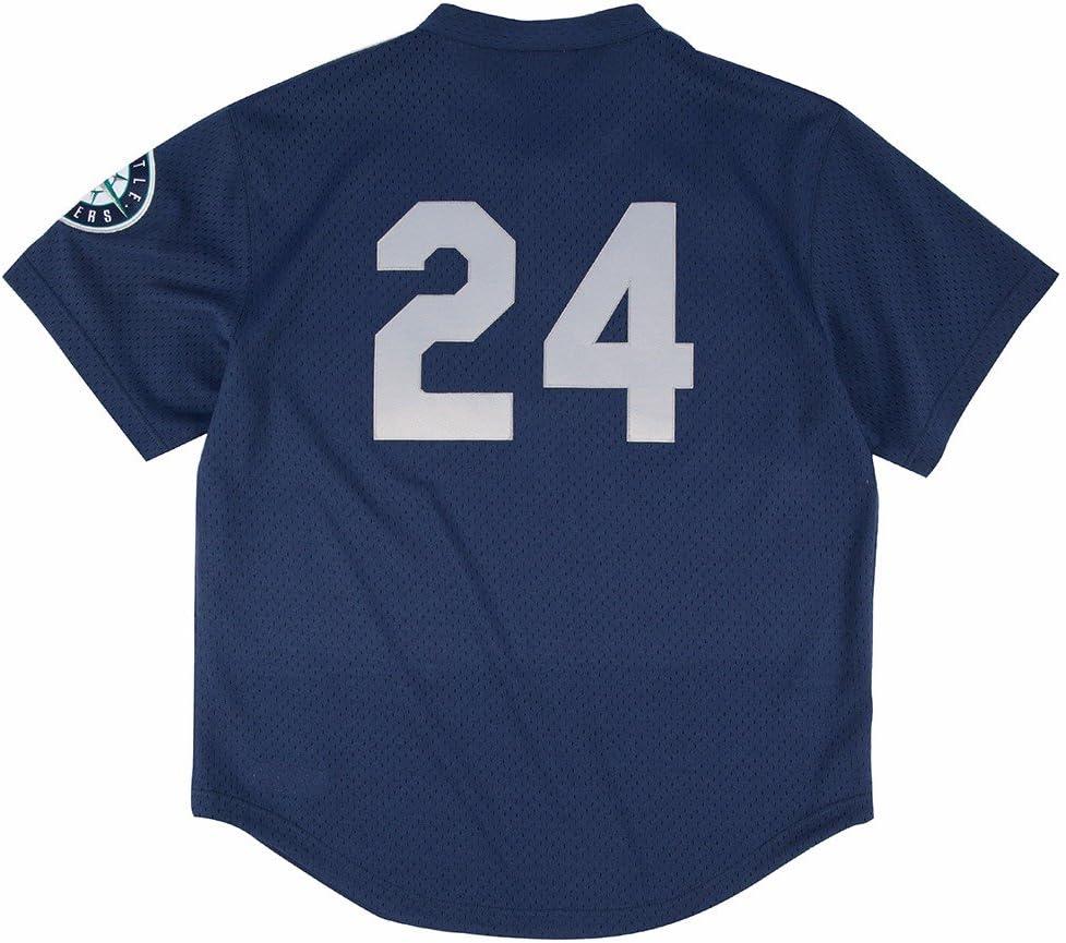 Blue Seattle Mariners Authentic Mesh Batting Practice Jersey Mitchell /& Ness Ken Griffey Jr