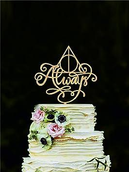 Harry Potter Wedding Cake.Harry Potter Wedding Cake Topper Always Cake Topper Harry Potter Cake Decorations Love Cake Topper Always Cake Sign