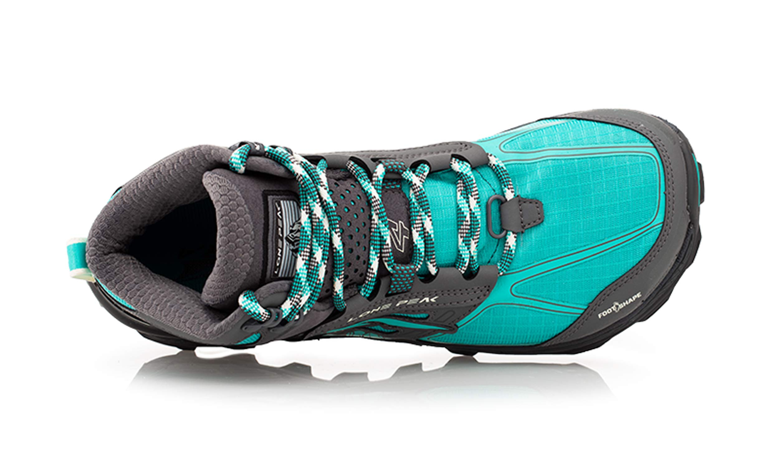 Altra Women's Lone Peak 4 Mid Mesh Trail Running Shoe, Teal/Gray - 6 B(M) US by Altra (Image #3)