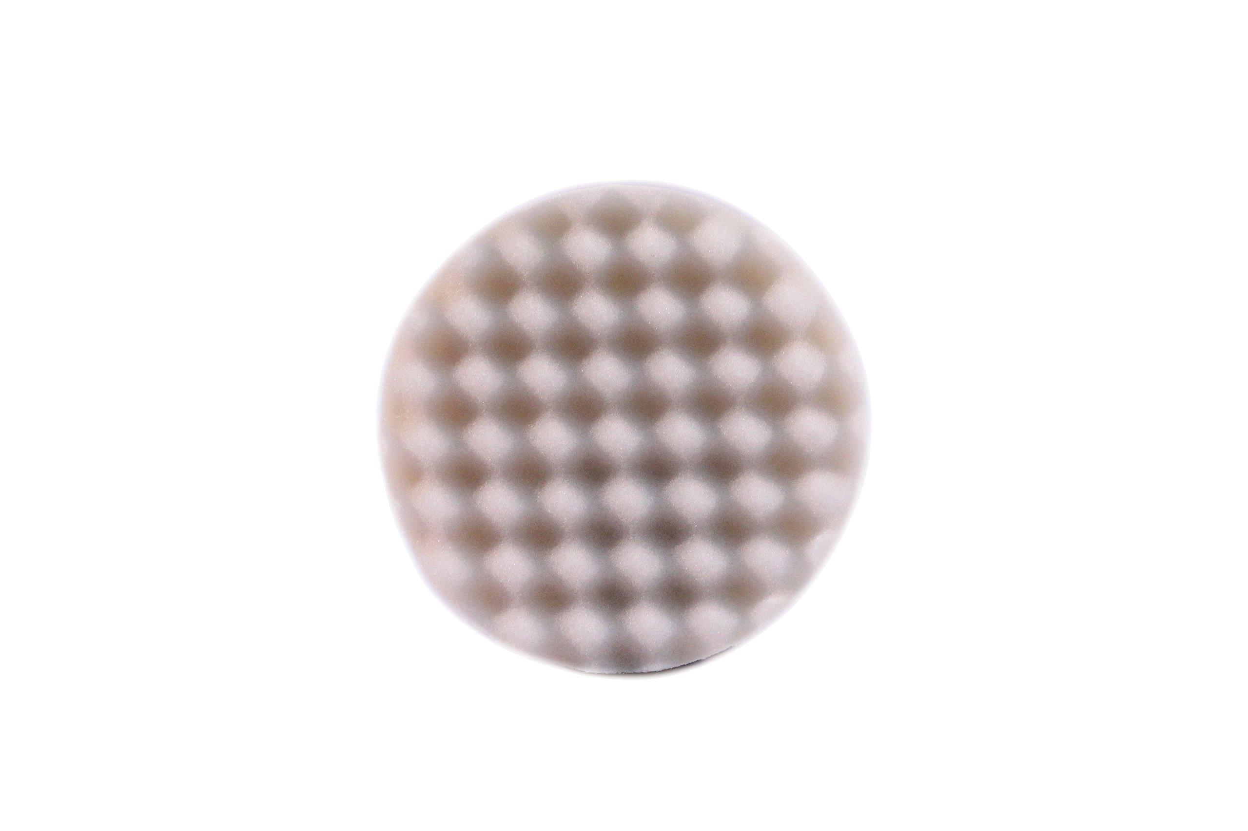 Optimum (24008) Waffle Foam Pad, (Cutting & Polishing), White, 5.5''