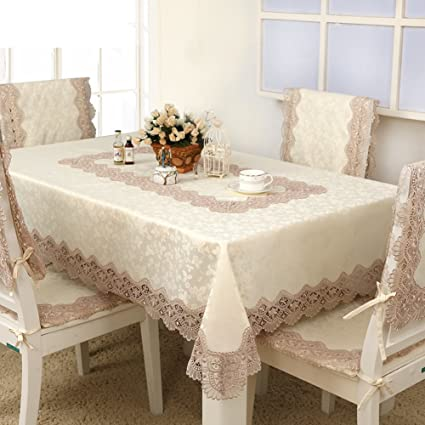 Amazon continental rectangle lace table cloth fabrictable continental rectangle lace table cloth fabrictable runner pastoral bedside table cover towel chair watchthetrailerfo
