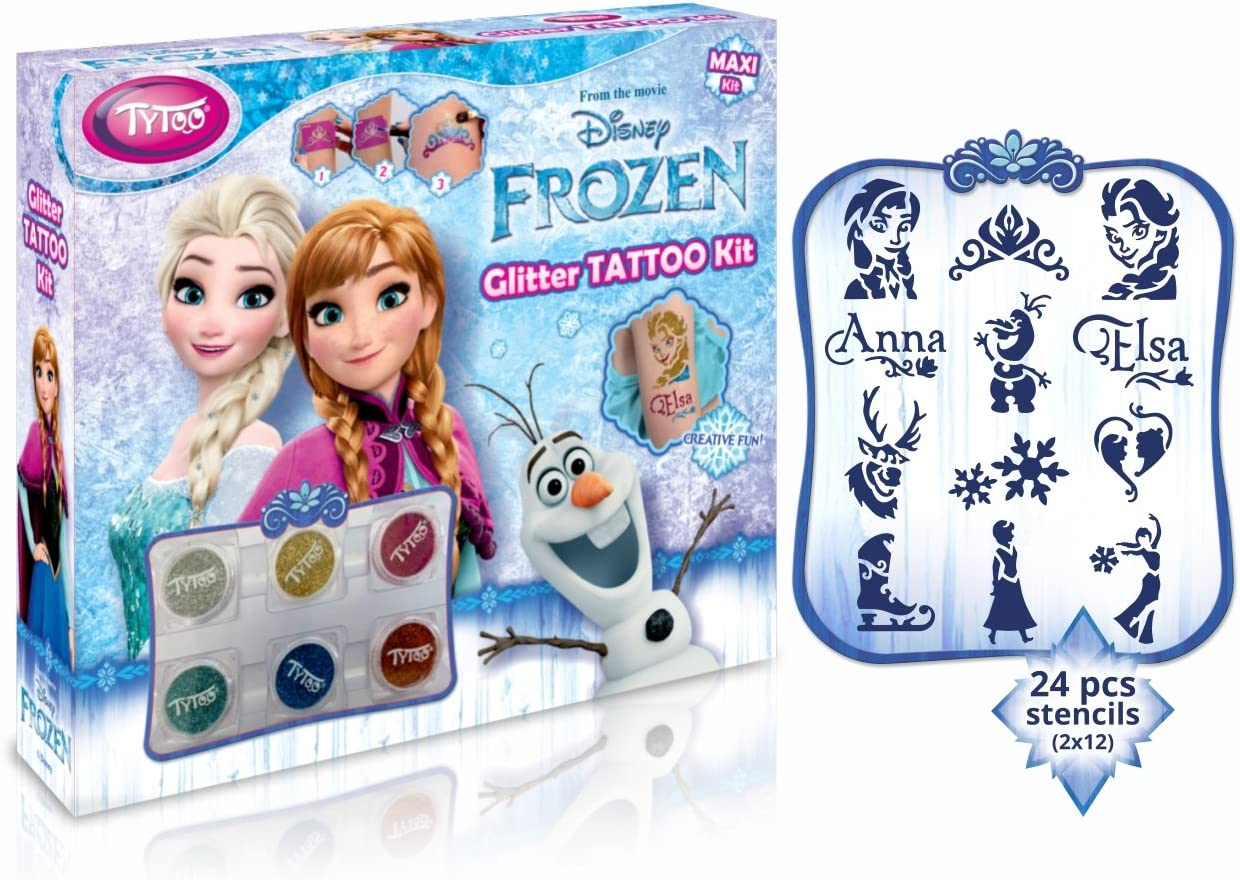 Disney Frozen Glitter Tattoo Maxi Kit 24 increíbles Plantillas ...