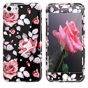 coque iphone 8 silicone rose fleur