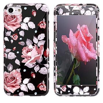 iphone 8 coque silicone fleure