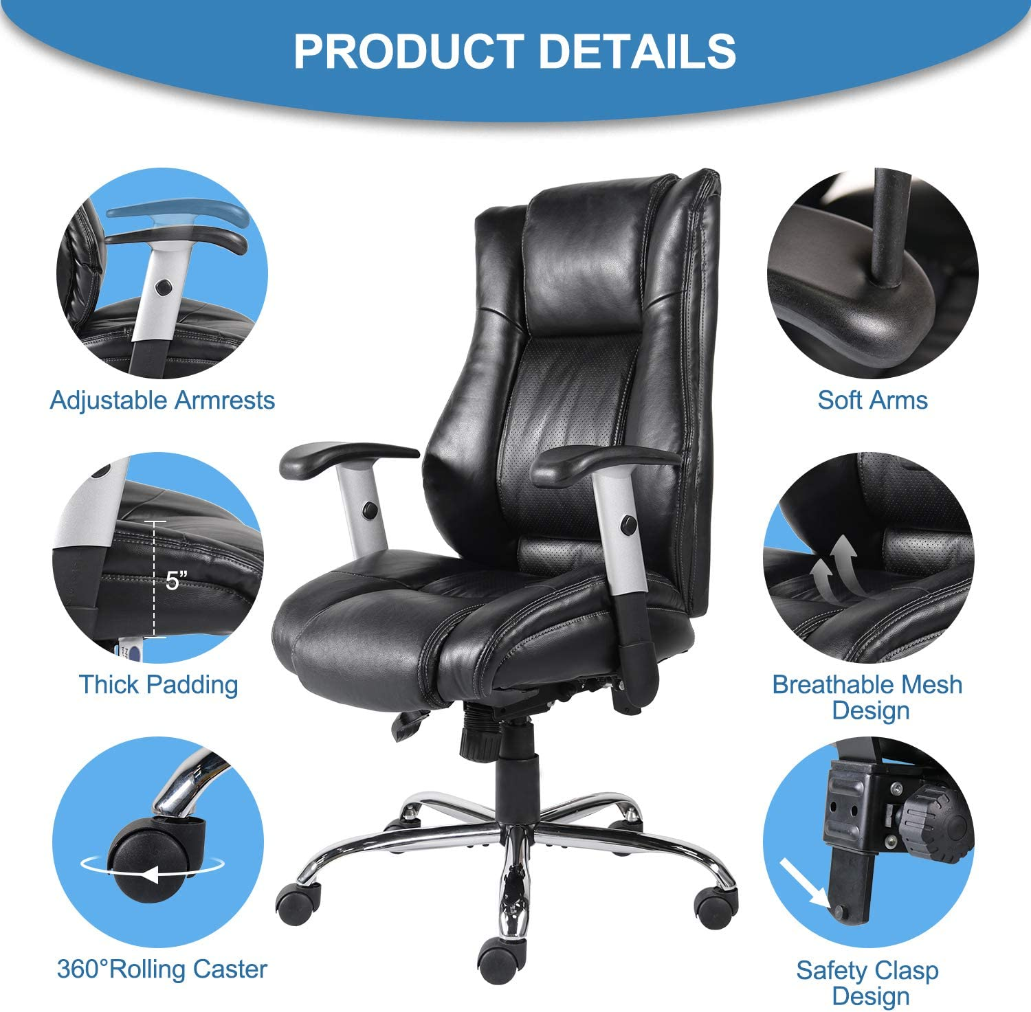 71PAuIW PZL. AC SL1500 - What is The Best Computer Chair For Long Hours Sitting? [Comfortable and Ergonomic] - ChairPicks