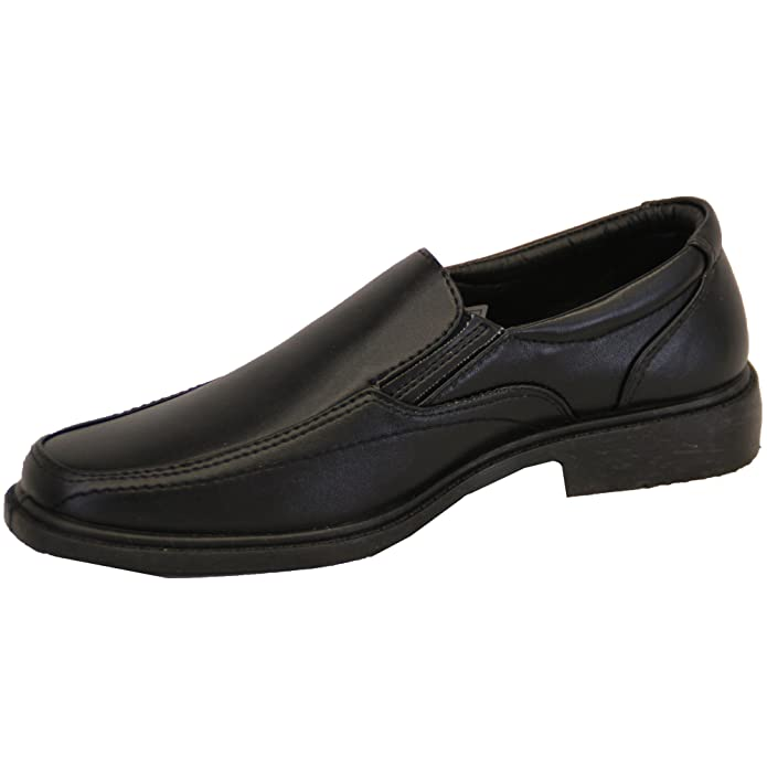 Boys School Shoes Kids Formal Leather Look Youth Slip On Charles Southwell  Smart: Amazon.co.uk: Shoes & Bags