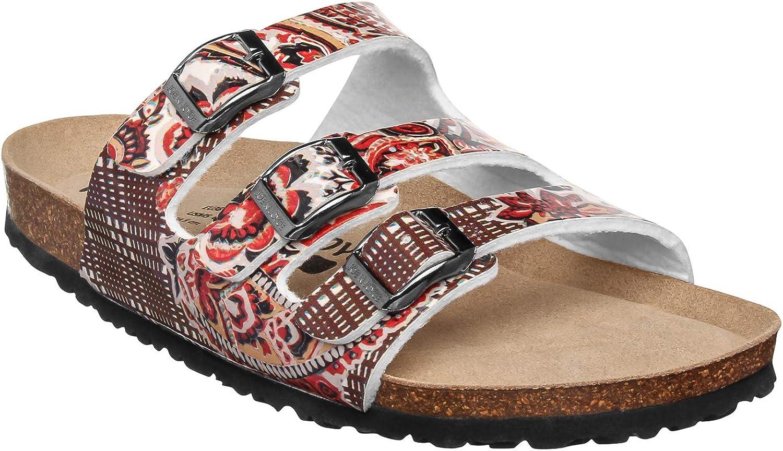 JOE N JOYCE London Women SynSoft Comfort-Footbed Narrow Cork Sandals