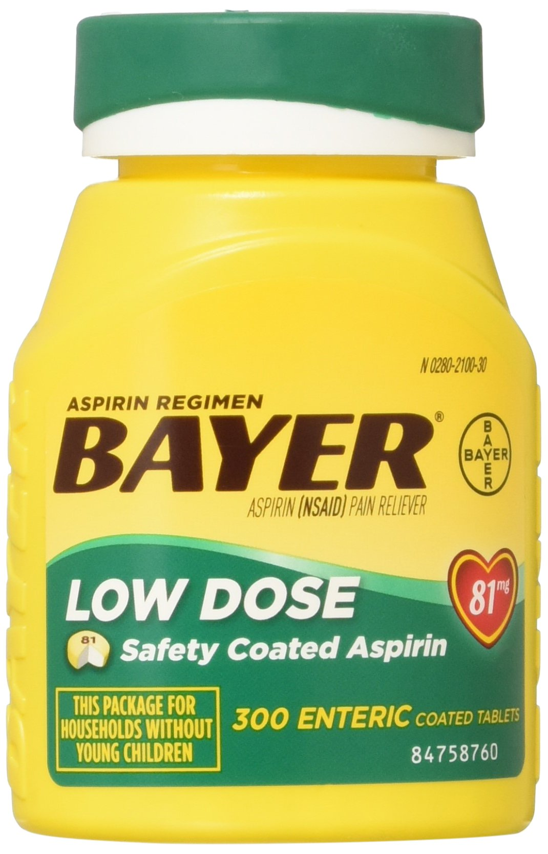 Bayer Low Dose 81mg Tab B Size 300ct Bayer Low Dose 81mg Tab Bttl 300ct by Bayer