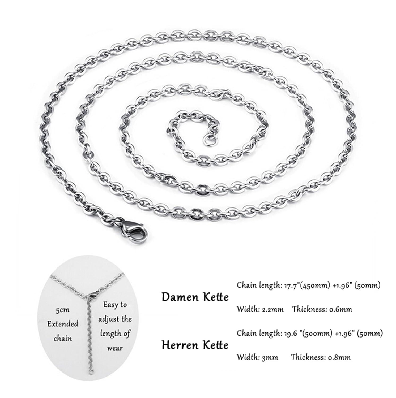 AMDXD Couple Pendant Necklaces CZ Heart Puzzle Love Devotion Engraved Silver Black Stainless Steel Pendants