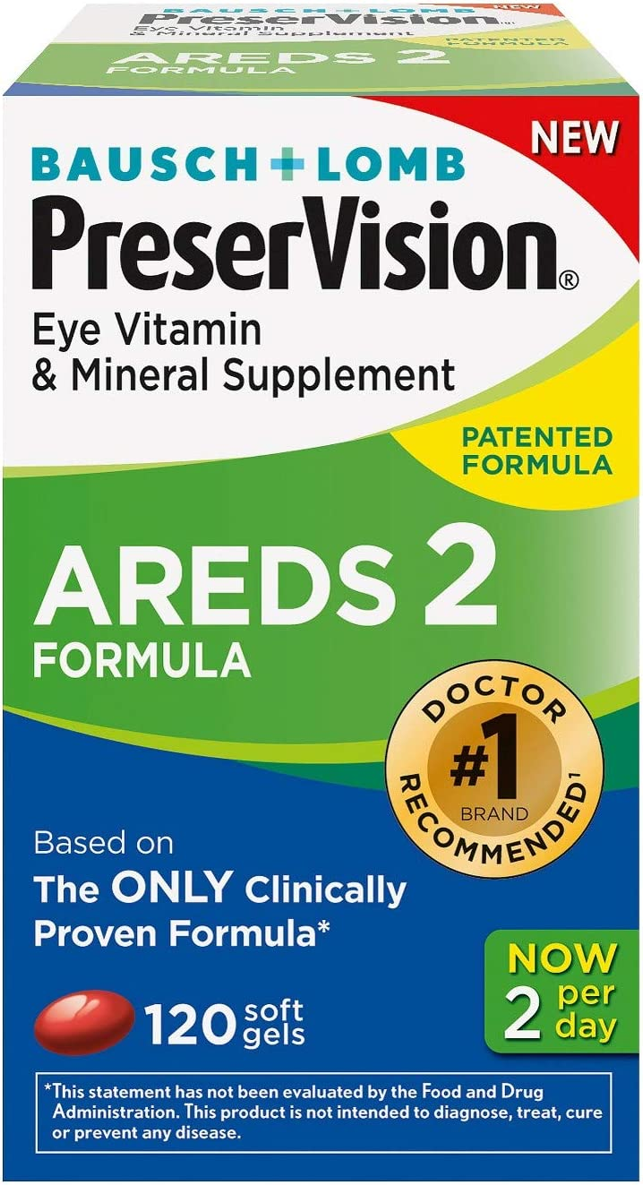 PreserVision AREDS 2 Vitamin Mineral Supplement, Soft Gels 120 ea Pack of 2