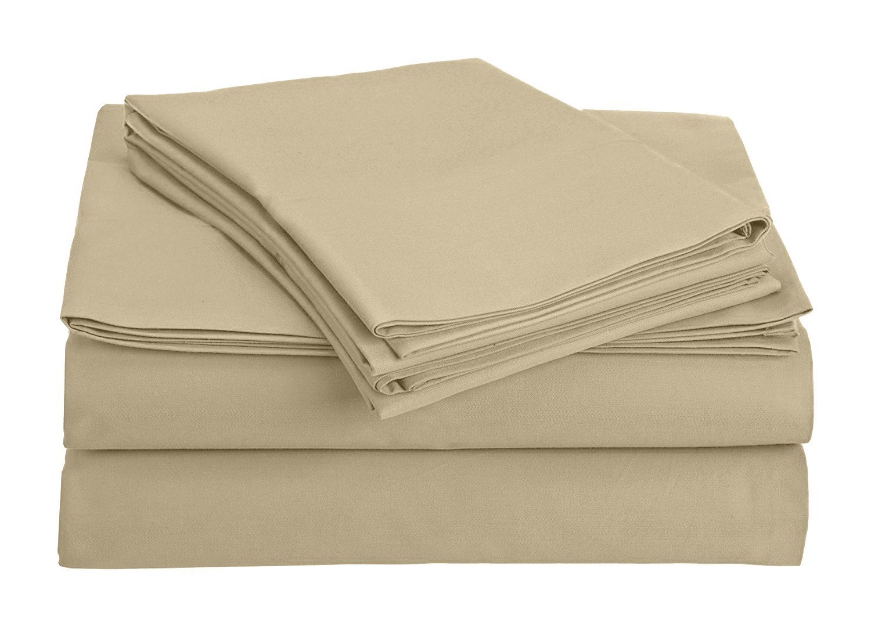 The Green Farmer Organic Cotton Sheet Set Bedding,300 Thread Count,GOTS Certified, 100% Organic Cotton, Eco-Friendly, King, Desert Storm