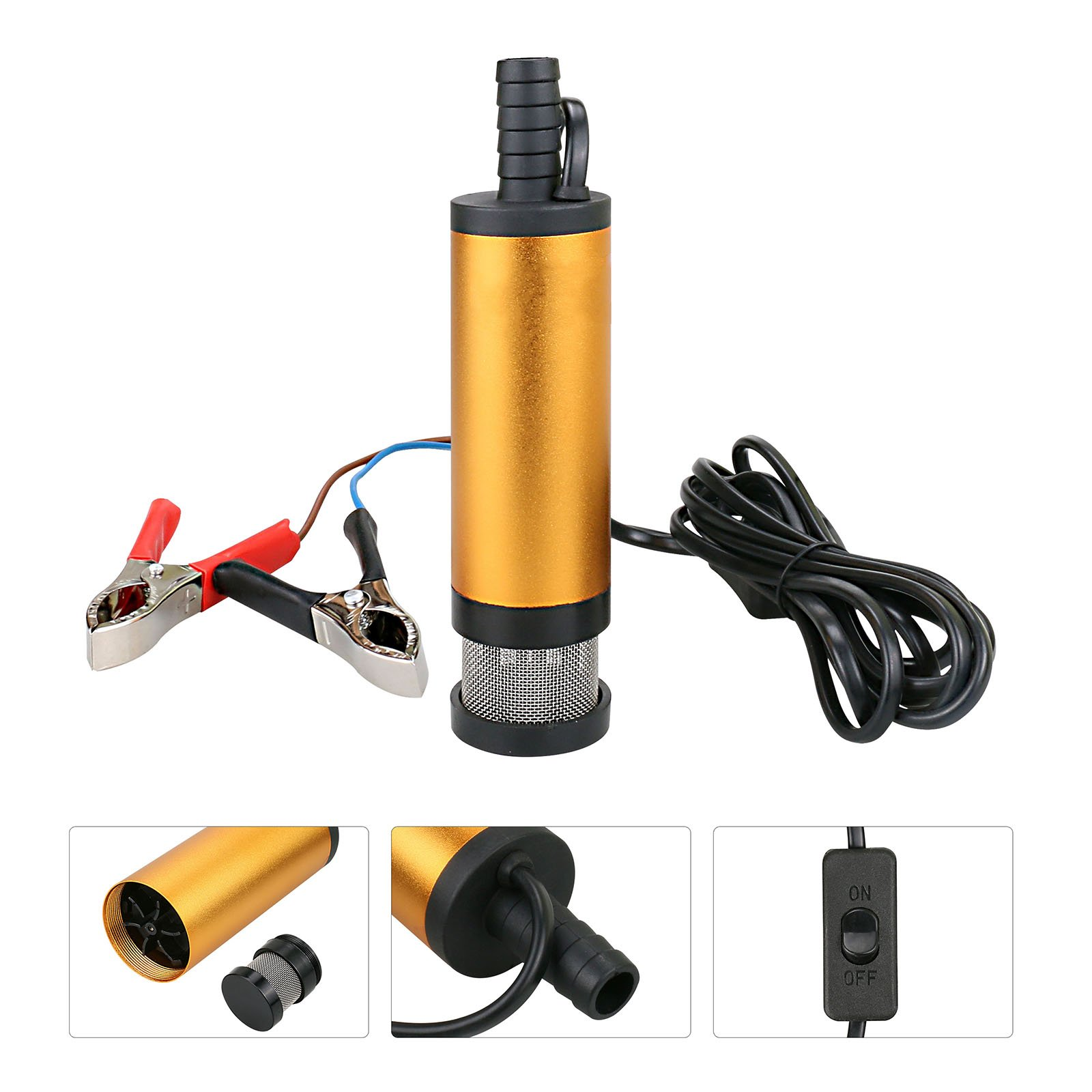 DC 12V Diesel Water Oil Fuel Transfer Pump For Car Truck Camping Submersible Motorbike 8500r/min