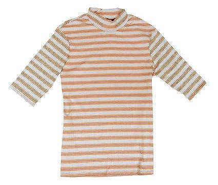 767e70355b6601 Ultra Flirt Juniors  Striped Rib-Knit Mock-Neck Sweater Pink Blue X ...