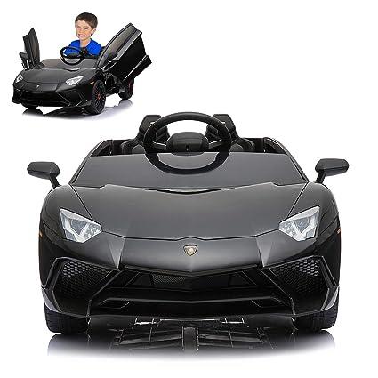 Lamborghini Electric Car For Kids >> Amazon Com Lamborghini Electric Ride On Car With Remote Control For