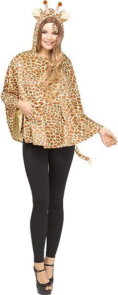 Fun World Disfraz de Poncho con Capucha de Jirafa para Mujer ...