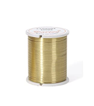 Amazon.com: Beading Wire, 28 Gauge, Gold, 17yds (Pack of 1): Arts ...