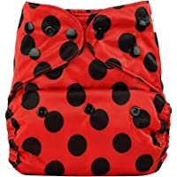Bumberry Pocket Diaper (Lady Bug) and 1 Microfiber Insert (Multicolor)