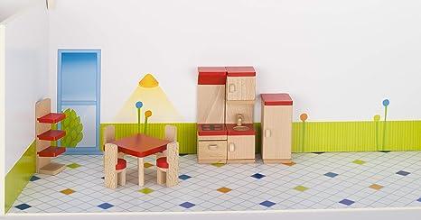 Etagenbett Puppenstube : Cama24com puppenhaus von goki 3 etagen und 5 zimmereinrichtungen