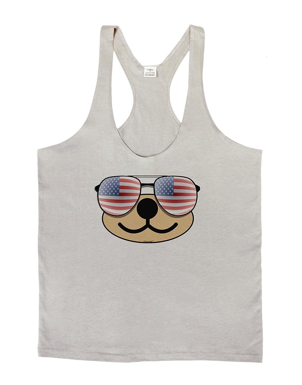 Beartholomew Patriotic Sunglasses Mens String Tank Top Kyu-T Face