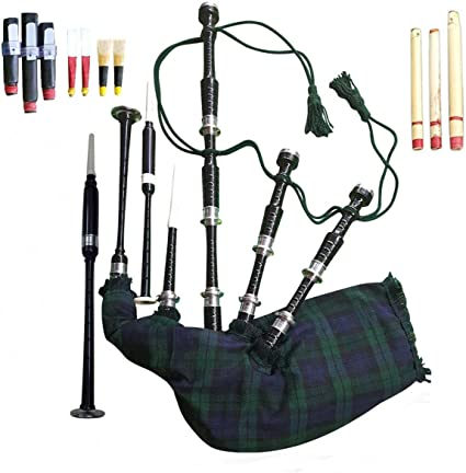 Bagpipe Rosewood Great Highland Full Size with Chanter Carrying Bag Tutor Book